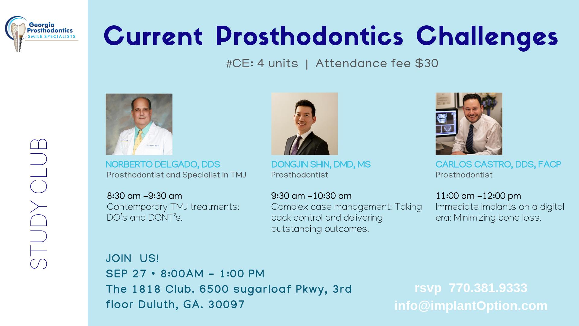 Study Club Georgia Prosthodontics