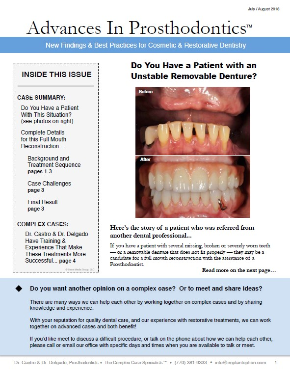 Do You Have a Patient with an Unstable Removable Denture